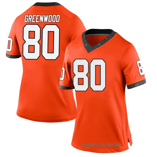 Women's Nike LC Greenwood Oklahoma State Cowboys Game Orange Football College Jersey
