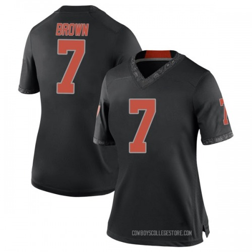 Women's Nike LD Brown Oklahoma State Cowboys Replica Black Football College Jersey