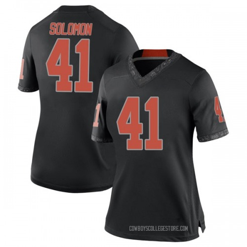 Women's Nike Mitchell Solomon Oklahoma State Cowboys Replica Black Football College Jersey