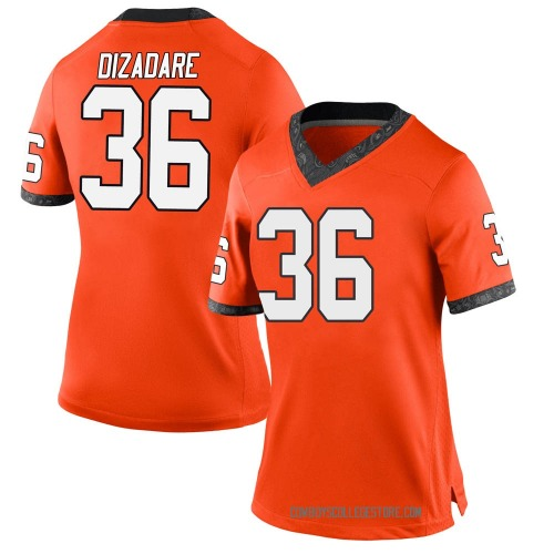 Women's Nike Na'drian Dizadare Oklahoma State Cowboys Game Orange Football College Jersey