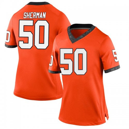 Women's Nike Relijah Sherman Oklahoma State Cowboys Replica Orange Football College Jersey