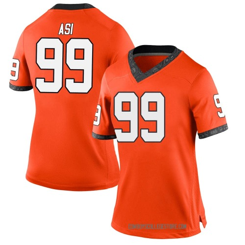 Women's Nike Sione Asi Oklahoma State Cowboys Game Orange Football College Jersey