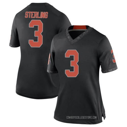 Women's Nike Tre Sterling Oklahoma State Cowboys Replica Black Football College Jersey