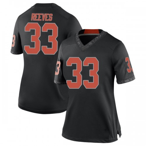 Women's Nike Trey Reeves Oklahoma State Cowboys Replica Black Football College Jersey