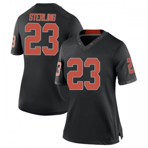 Women's Nike Trey Sterling Oklahoma State Cowboys Replica Black Football College Jersey