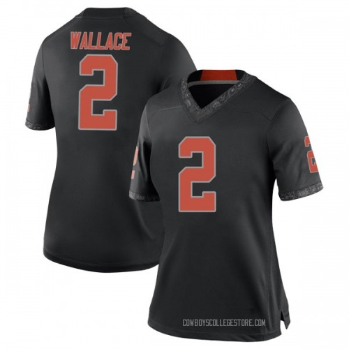 Women's Nike Tylan Wallace Oklahoma State Cowboys Replica Black Football College Jersey
