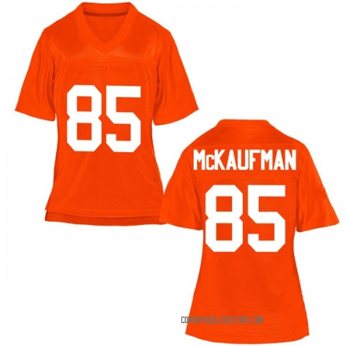 Women's Patrick McKaufman Oklahoma State Cowboys Game Orange Football College Jersey