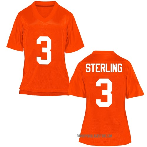 Women's Tre Sterling Oklahoma State Cowboys Game Orange Football College Jersey