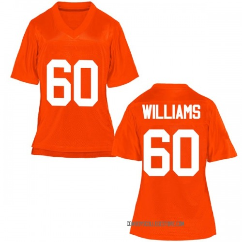 Women's Tyrese Williams Oklahoma State Cowboys Replica Orange Football College Jersey