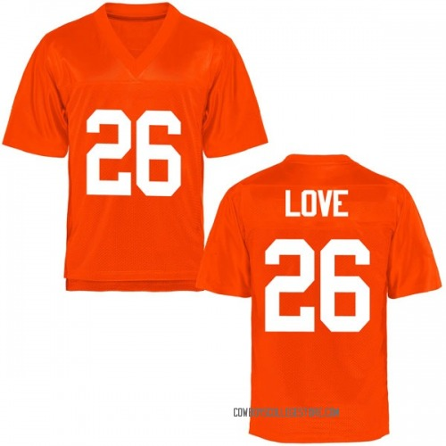 Youth Anthony Love Oklahoma State Cowboys Game Orange Football College Jersey