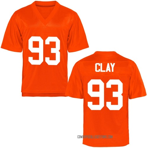 Youth Collin Clay Oklahoma State Cowboys Game Orange Football College Jersey