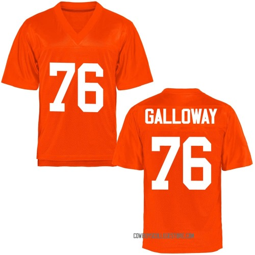 Youth Dylan Galloway Oklahoma State Cowboys Game Orange Football College Jersey