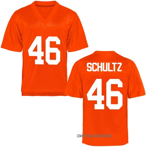 Youth Jake Schultz Oklahoma State Cowboys Game Orange Football College Jersey