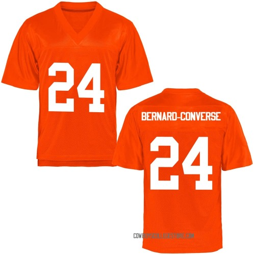 Youth Jarrick Bernard-Converse Oklahoma State Cowboys Game Orange Football College Jersey
