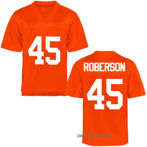 Youth Jeff Roberson Oklahoma State Cowboys Game Orange Football College Jersey