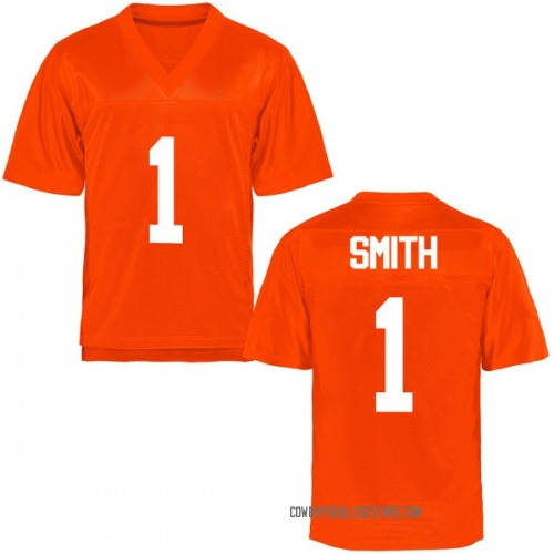 Youth Kendall Smith Oklahoma State Cowboys Game Orange Football College Jersey