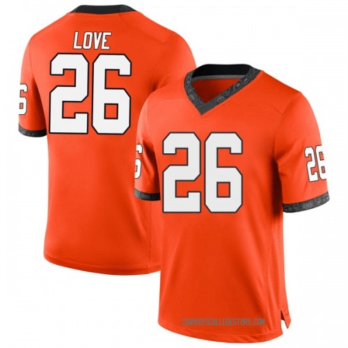 Youth Nike Anthony Love Oklahoma State Cowboys Game Orange Football College Jersey