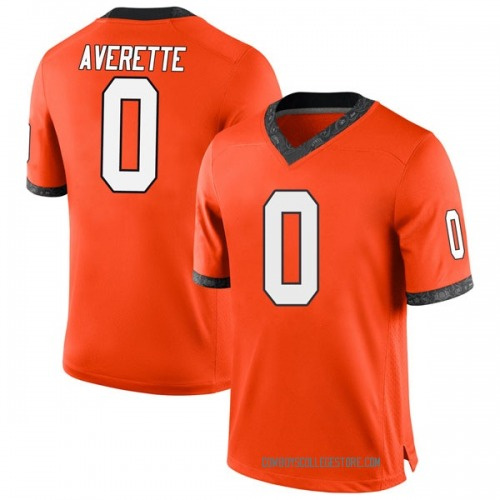 Youth Nike Brandon Averette Oklahoma State Cowboys Game Orange Football College Jersey