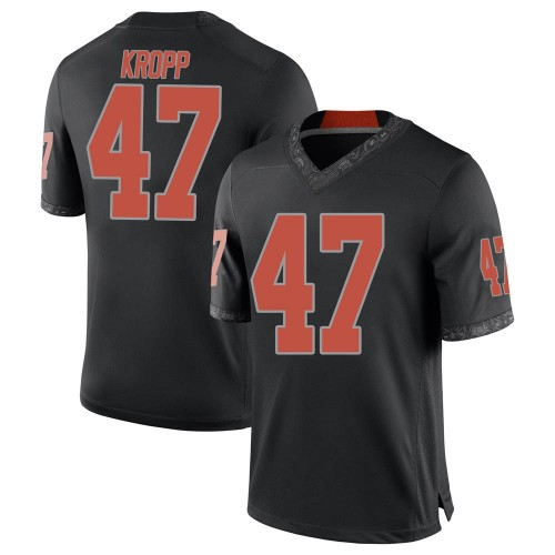 Youth Nike Carson Kropp Oklahoma State Cowboys Game Black Football College Jersey
