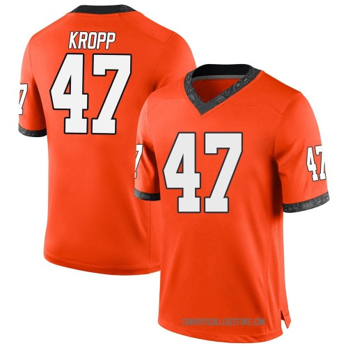 Youth Nike Carson Kropp Oklahoma State Cowboys Game Orange Football College Jersey