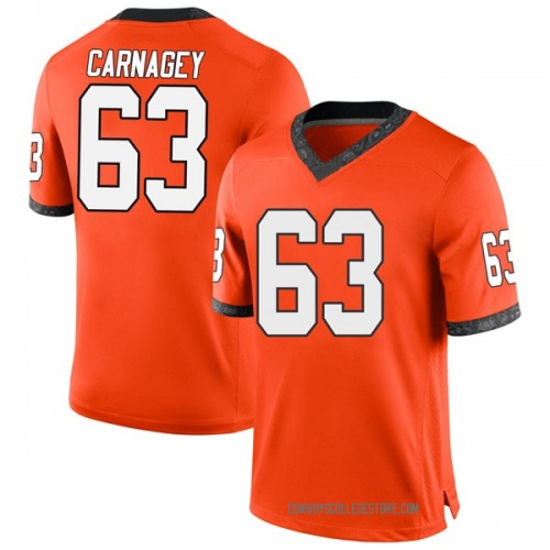 Youth Nike Dylan Carnagey Oklahoma State Cowboys Game Orange Football College Jersey