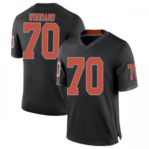 Youth Nike Hunter Woodard Oklahoma State Cowboys Game Black Football College Jersey