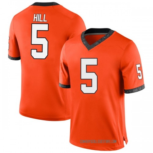 Youth Nike Justice Hill Oklahoma State Cowboys Game Orange Football College Jersey