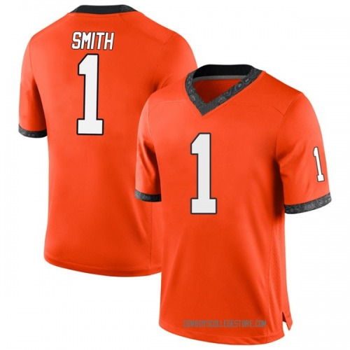 Youth Nike Kendall Smith Oklahoma State Cowboys Game Orange Football College Jersey