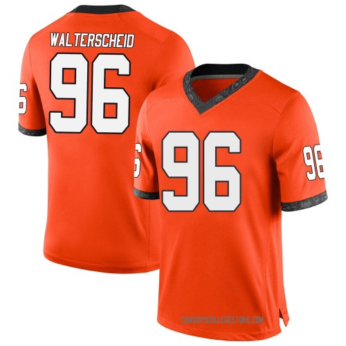 Youth Nike Kody Walterscheid Oklahoma State Cowboys Game Orange Football College Jersey