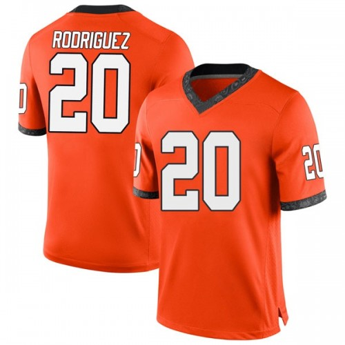 Youth Nike Malcolm Rodriguez Oklahoma State Cowboys Game Orange Football College Jersey