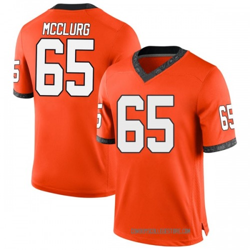 Youth Nike Matt McClurg Oklahoma State Cowboys Game Orange Football College Jersey