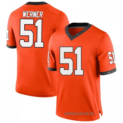 Youth Nike Matthew Werner Oklahoma State Cowboys Replica Orange Football College Jersey
