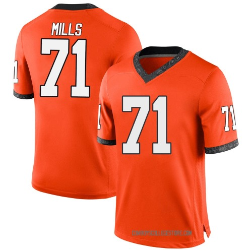 Youth Nike Monroe Mills Oklahoma State Cowboys Game Orange Football College Jersey