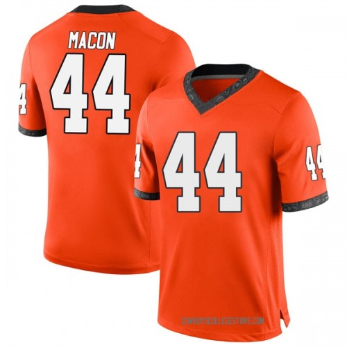 Youth Nike Patrick Macon Oklahoma State Cowboys Game Orange Football College Jersey