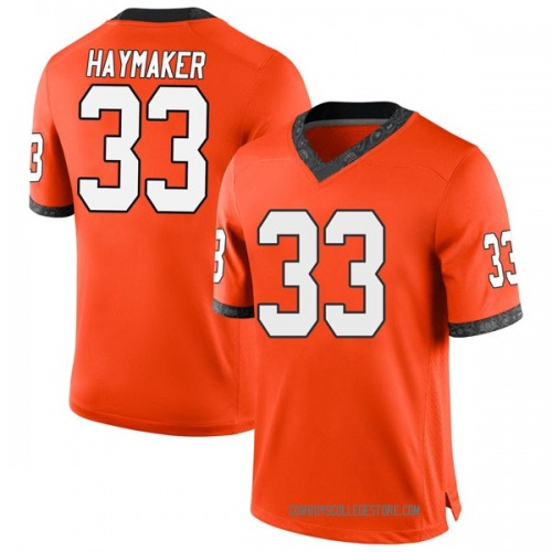 Youth Nike Ryan Haymaker Oklahoma State Cowboys Game Orange Football College Jersey