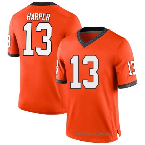 Youth Nike Thomas Harper Oklahoma State Cowboys Game Orange Football College Jersey