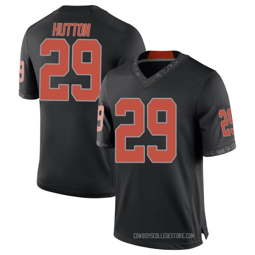 Youth Nike Tom Hutton Oklahoma State Cowboys Game Black Football College Jersey