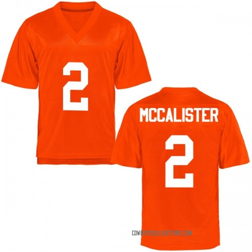 Youth Tanner McCalister Oklahoma State Cowboys Game Orange Football College Jersey