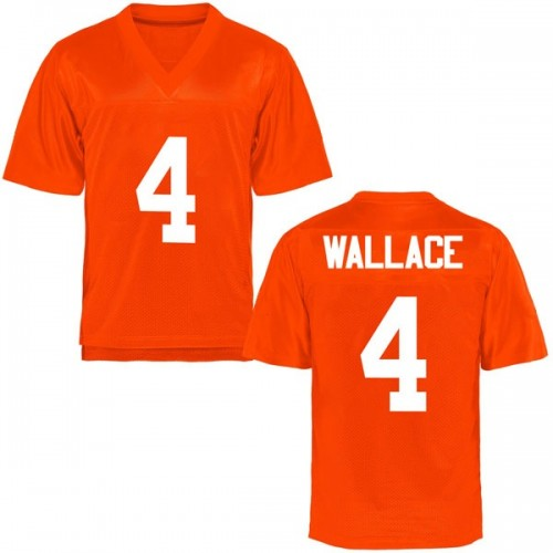 Youth Tracin Wallace Oklahoma State Cowboys Game Orange Football College Jersey