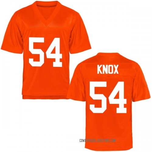 Youth Truett Knox Oklahoma State Cowboys Game Orange Football College Jersey